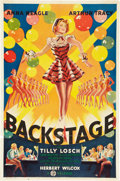"Movie Posters:Musical, Backstage (20th Century Fox, 1938). One Sheet (27"" X 41"").. ..."