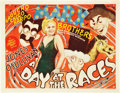 "Movie Posters:Comedy, A Day At The Races (MGM, 1937). Title Lobby Card (11"" X 14"").. ..."