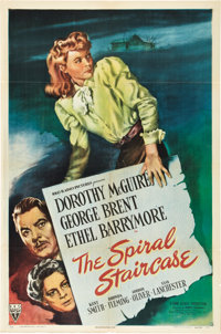 "The Spiral Staircase (RKO, 1945). One Sheet (27"" X 41"")"