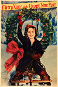 "Movie Posters:Miscellaneous, Shirley Temple Merry Christmas (Fox, 1934). One Sheet (28"" X 42"")....."