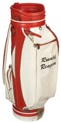 Golf Collectibles:Miscellaneous, 1960's Ronald Reagan Match Used Golf Bag....