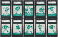 """Football Cards:Sets, 1961 Lake to Lake """"Green Bay Packers"""" Complete Set (36) - #1 on the SGC Set Registry. ..."""