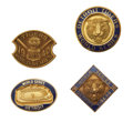 Baseball Collectibles:Others, 1940-84 World Series Press Pins (Detroit Tigers) Lot of 4....