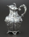 Silver Holloware, American:Coin Silver, AN AMERICAN COIN SILVER PITCHER. Platt & Brothers, New York,New York, circa 1855. Marks: PLATT & BROTHERS. 11-1/2 x8-1...