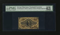 Fractional Currency:Third Issue, Fr. 1254SP 10¢ Third Issue Narrow Margin Face PMG Choice Uncirculated 63....