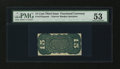 Fractional Currency:Third Issue, Fr. 1272SP 15¢ Third Issue Narrow Margin Back PMG About Uncirculated 53....
