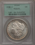 Morgan Dollars: , 1890-O $1 MS64 Prooflike PCGS. PCGS Population (124/21). NGC Census: (110/13). Numismedia Wsl. Price for problem free NGC/...
