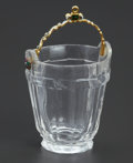 Decorative Accessories, A FRENCH ROCK CRYSTAL AND ENAMELED GOLD MINIATURE BUCKET. Maker unknown, France, 19th Century. Unmarked. 3-7/8 x 1-7/8 x 1-3...