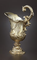 Silver Holloware, British:Holloware, A GEORGE III SILVER GILT EWER. Unidentified maker, London, England, 1811-1812. Marks: (lion passant), (leopard's head crowne...