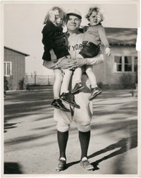 """Play Ball With Babe Ruth (Universal, 1932). Photos (6) (8"""" X 10"""") and Magazine (Multiple Pages). ... (Total: 7..."""