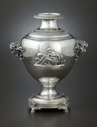 AN AMERICAN SILVER WINE COOLER Tiffany & Co., New York, New York, circa 1870-1875 Marks: TIFFANY & CO., 2360