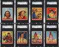 Non-Sport Cards:Sets, 1933-40 R73 Goudey Indians Complete Set (216) Plus Blue Panel Set(24). ...