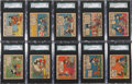 Non-Sport Cards:Sets, 1935 V303 O-Pee-Chee Mickey Mouse SGC-Graded Collection (30Different). ...