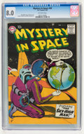 Silver Age (1956-1969):Science Fiction, Mystery in Space #49 (DC, 1959) CGC VF 8.0 Off-white pages....