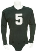 Football Collectibles:Uniforms, Circa 1954-55 Paul Hornung Game Worn Notre Dame Jersey....