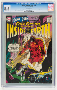The Brave and the Bold #31 Cave Carson (DC, 1960) CGC VF+ 8.5 Off-white pages
