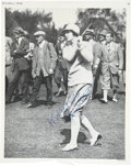 Golf Collectibles:Autographs, 1930's Glenna Collett Signed Magazine Photograph....