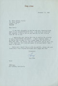 Golf Collectibles:Autographs, 1965 Tony Lema Signed Letter to Henry Cotton....