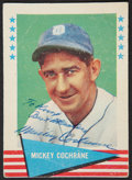 Autographs:Sports Cards, 1961 Fleer Mickey Cochrane #15, Signed....
