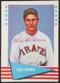Autographs:Sports Cards, 1961 Fleer Paul Waner #85, Twice Signed....