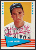 Autographs:Sports Cards, 1961 Fleer Bump Hadley #111, Signed....