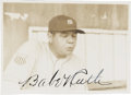 Autographs:Photos, 1934 Babe Ruth Signed Tour of Japan Snapshot Photograph....