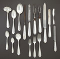 Silver Flatware, American:Tiffany, A CASED AMERICAN SILVER FLATWARE SERVICE. Tiffany & Co., NewYork, New York, circa 1902. Marks: TIFFANY & CO., STERLING,P... (Total: 107 Items)