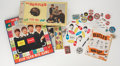 Music Memorabilia:Memorabilia, The Beatles Scarf, Boardgame, and Other Vintage Novelties.... (Total: 30 Items)