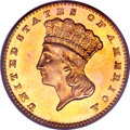 Proof Gold Dollars, 1886 G$1 PR63 PCGS....
