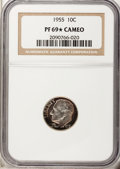 Proof Roosevelt Dimes, 1955 10C PR69 ★ Cameo NGC. NGC Census: (22/0). PCGS Population(4/0). (#85230)...