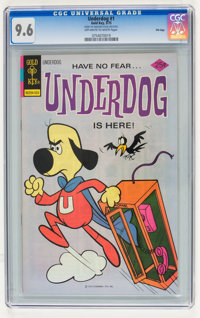 Underdog #1 File Copy (Gold Key, 1975) CGC NM+ 9.6 Off-white to white pages