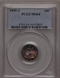 Seated Dimes: , 1890-S 10C MS64 PCGS. PCGS Population (14/7). NGC Census: (21/22).Mintage: 1,423,076. Numismedia Wsl. Price for problem fr...