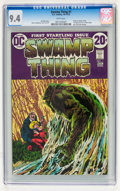 Bronze Age (1970-1979):Horror, Swamp Thing #1 (DC, 1972) CGC NM 9.4 White pages....