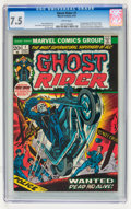 Bronze Age (1970-1979):Horror, Ghost Rider #1 (Marvel, 1973) CGC VF- 7.5 White pages....