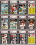 Baseball Cards:Lots, 1967 Topps Baseball PSA/SGC-Graded Collection (35) with HoFers andHigh Numbers!...