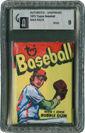Baseball Cards:Other, 1973 Topps Baseball Unopened Wax Pack GAI Mint 9....
