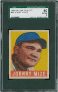 Baseball Cards:Singles (1940-1949), 1948 Leaf Johnny Mize #46 SGC 80 EX/NM 6....