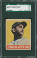 Baseball Cards:Singles (1940-1949), 1948 Leaf Lucius Appling #59 SGC 50 VG/EX 4....