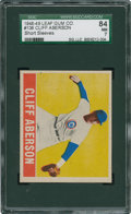 Baseball Cards:Singles (1940-1949), 1948 Leaf Cliff Aberson #136 SGC 84 NM 7....