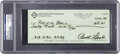 """Baseball Collectibles:Others, Curt Flood Signed Check, PSA/DNA """"Authentic""""...."""