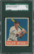 Baseball Cards:Singles (1940-1949), 1948 Leaf Ralph Weigel #86 SGC 84 NM 7....