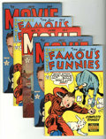 Golden Age (1938-1955):Miscellaneous, Famous Funnies/Movie Love Group (Eastern Color, 1951-53) Condition: Average VF.... (Total: 5 Comic Books)