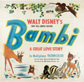"Movie Posters:Animated, Bambi (RKO, 1942). Six Sheet (81"" X 81"").. ..."