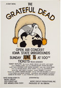 Music Memorabilia:Posters, The Grateful Dead Iowa State Fairgrounds Concert Poster (MusicCircuit Productions, 1974)....