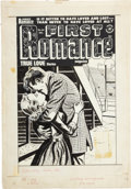 Original Comic Art:Covers, First Romance Magazine Cover Original Art (Harvey, 1952)....
