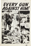 Original Comic Art:Splash Pages, Doug Wildey Wyatt Earp #28 Title Page 1 Original Art(Marvel, 1960)....