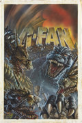 Original Comic Art:Covers, Chris Scalf G-Fan #29 Godzilla vs. King Ghidorah CoverIllustration Original Art (1997)....