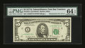 Error Notes:Mismatched Serial Numbers, Fr. 1975-L $5 1977A Federal Reserve Note. PMG Choice Uncirculated 64 EPQ.. ...