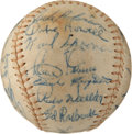 Autographs:Baseballs, 1955 Brooklyn Dodgers Team Signed Baseball, Graded PSA EX+ 5.5....