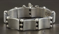 Silver Smalls:Other , A MEXICAN SILVER BRACELET. Héctor Aguilar, Taxco, Mexico, circa1945. Marks: HA, 940, TAXCO. 7-1/2 long x 0-3/4 inches w...